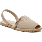 Sandales Solillas Womens Taupe Volant Sandals