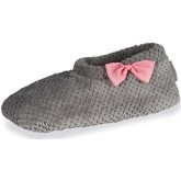 Chaussons Isotoner Chaussons bottillons femme nud organza