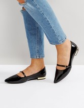 Head Over Heels - Hallet - Chaussures plates vernies à bout pointu - Noir - Noir
