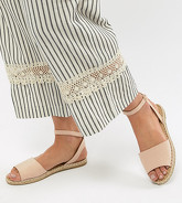 Truffle Collection - Sandales plates style espadrilles - Beige