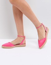 ASOS - JASLEEN - Espadrilles pointues - Rose