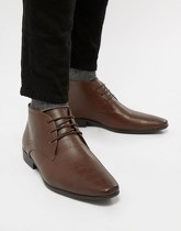 New Look - Bottines chukka élégantes - Marron foncé - Marron