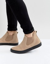 ASOS - Bottines chelsea style baskets - Taupe - Taupe