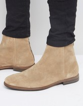 Paul Smith - Jean - Bottines en daim à fermeture éclair - Beige
