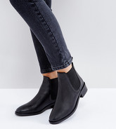 ASOS - ABSOLUTE - Bottines chelsea larges en cuir - Noir