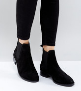 ASOS - ABSOLUTE - Bottines chelsea en daim - Noir
