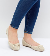 New Look Wide Fit - Ballerines scintillantes - Doré