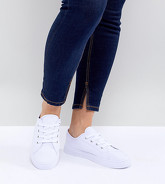 ASOS DESIGN - Daisy - Baskets pointure large - Blanc