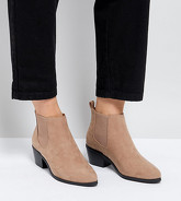 ASOS REVIVE - Bottines Chelsea pointure large - Beige