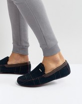 Ted Baker - Morris - Chaussons mocassins à carreaux - Navy