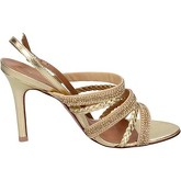 Chaussures escarpins Vicenza sandales or cuir strass BT758