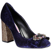 Chaussures escarpins Fontana CHRIS BLU-PLATINO