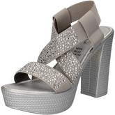 Sandales Fascino Donna FASCINO sandales argent textile gris strass AE45