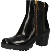 Bottines Guardiani bottines noir cuir brillant AE467