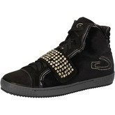 Chaussures Guardiani sneakers noir velours daim strass AE827