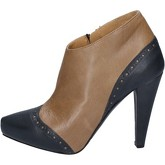 Bottines Deimille bottines marron cuir gris AM853