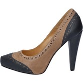 Chaussures escarpins Deimille escarpins marron cuir gris AM852