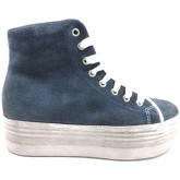Chaussures Jeffrey Campbell sneakers bleu daim AY803