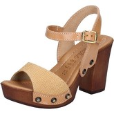 Sandales Made In Italia sandales marron beige cuir BY513