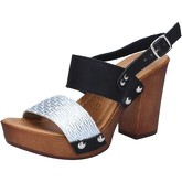 Sandales Made In Italia sandales noir cuir argent BY514