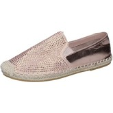 Chaussures Sara Lopez espadrillas rose textile strass BY242