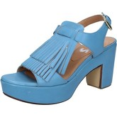 Sandales Shocks sandales bleu cuir BY402