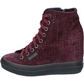 Chaussures Rucoline sneakers pourpre daim strass BY565