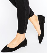 ASOS - LACEY - Ballerines larges et pointues - Noir