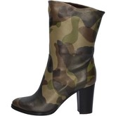 Bottines Alberto Gozzi bottes camouflage cuir AY167
