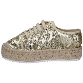 Chaussures Francescomilano sneakers platine textile paillettes BS77