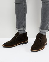 New Look - Desert boots en imitation daim - Marron foncé - Marron