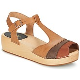 Sandales Swedish hasbeens 90'S-T-STRAP-WEDGE