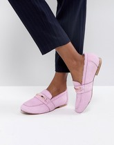 ASOS - MOVEMENT - Mocassins en cuir - Rose