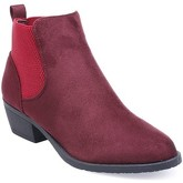 Bottines La Modeuse Bottines type chelsea bordeaux en suédine