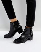 H by Hudson - Bottines en cuir - Noir