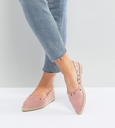ASOS - JISELLE - Espadrilles pointues à clous - Rose
