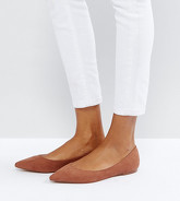 ASOS - LATCH - Ballerines plates pointues - Marron