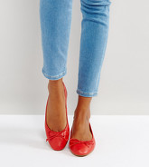 ASOS - LIBRA - Ballerines pointure large - Rouge