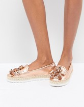 Head Over Heels By Dune - Elbie - Espadrilles plateformes à bordure - Rose