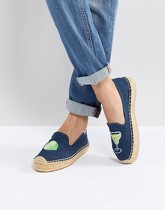 Soludos x Lucy Mail - Margarita - Espadrilles à plateforme - Rouge