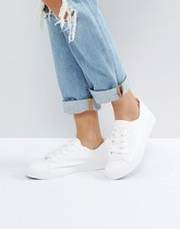 New Look - Baskets à lacets - Blanc