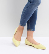 ASOS DESIGN - Latch - Ballerines larges et pointues - Jaune