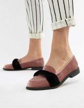 ASOS DESIGN - Madalyn - Mocassins plats - Rose