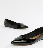 ASOS DESIGN - Latch - Ballerines plates pointues - Noir
