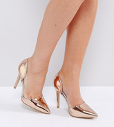 New Look Wide Fit - Chaussures pointues à talons - Transparent - Rose