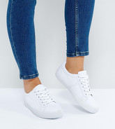 ASOS - DEVLIN - Baskets pointure large à lacets - Blanc