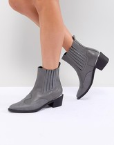 Missguided - Bottines western à talons - Gris