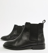 ASOS DESIGN - Aura - Bottines chelsea pointure large en cuir - Noir