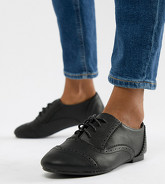 New Look Wide Fit - Chaussures richelieu - Noir