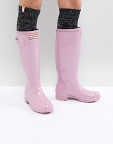 Hunter Original Tall - Bottes hautes en caoutchouc - Rose gloss - Rose